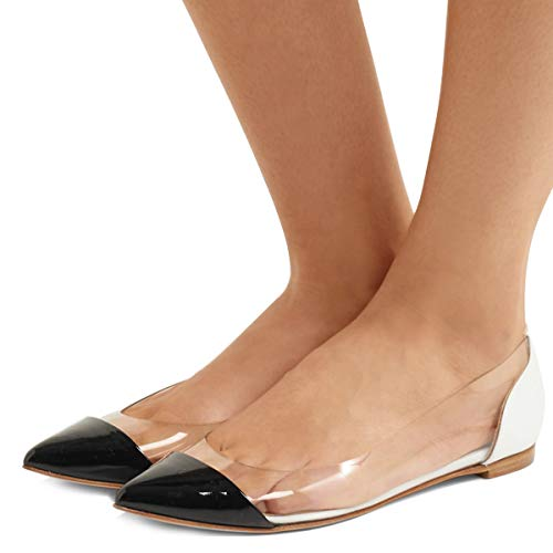 FSJ-Women-Stylish-Pointed-Toe-Flats-Transparent-Low-Heels-Pumps-Comfortable-Shoes-Size-4-15-US-0
