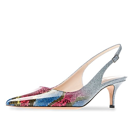 Modemoven-Womens-Blue-Snake-Skin-Patent-Leather-Pointed-Toe-Slingback-Ankle-Strap-Kitten-Heels-Pumps-Evening-Stiletto-Shoes-11-M-US-0