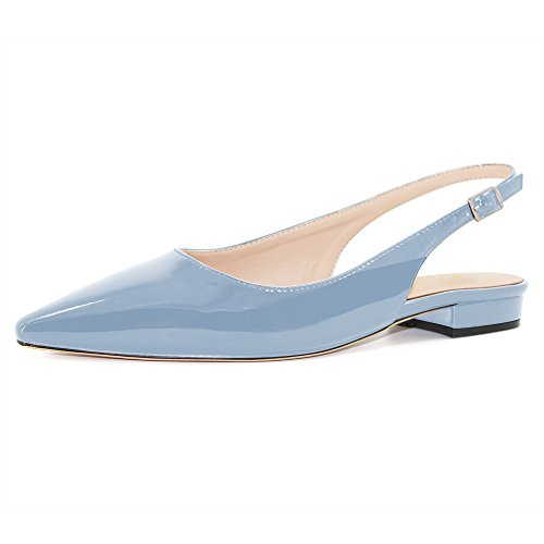 Modemoven-Womens-Pale-Blue-Patent-Leather-Slingback-Flats-SandalsAnkle-Strap-PumpsSexy-Mules-6-M-US-0