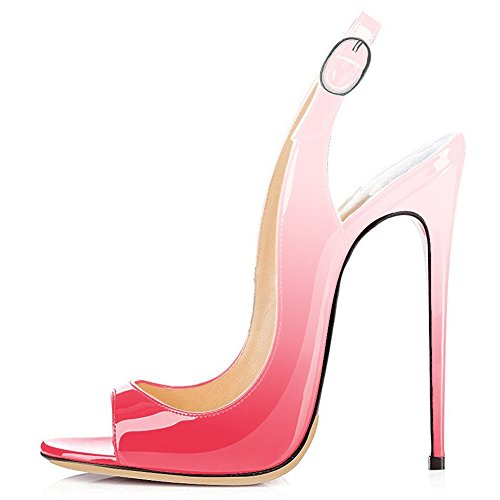 UMEXI-Open-Toe-Slingbacks-Ankle-Strap-High-Heels-Stiletto-Pumps-Wedding-Party-Shoes-for-Women-Gradient-Pink-Size-7-0