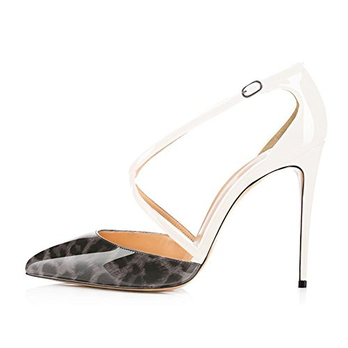 Women-Criss-Cross-Ankle-Strap-Sandals-Pointed-Toe-Pumps-Stiletto-High-Heels-Wedding-Party-Dress-Shoes-Gray-Leopard-to-White-Size-7-0