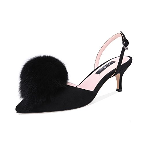 onlymaker-Womens-Pom-Pom-Fluffy-Heels-Slingback-Pointed-Toe-Kitten-Heels-Pumps-Ankle-Strap-Buckles-Low-Heel-Dress-Shoes-0