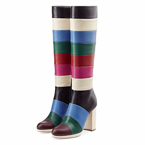 Amy-Q-Colorful-Round-Toe-Side-Zipper-Knee-High-Heel-Boots-Custom-Big-Size-Womens-Shoes-For-Casual-0