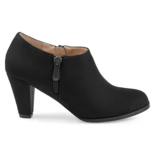 Brinley-Co-Womens-Sadra-Faux-Suede-Low-Cut-Comfort-Sole-Ankle-Booties-Black-12-Regular-US-0
