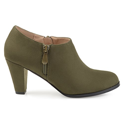Brinley-Co-Womens-Sadra-Faux-Suede-Low-Cut-Comfort-Sole-Ankle-Booties-Olive-12-Regular-US-0