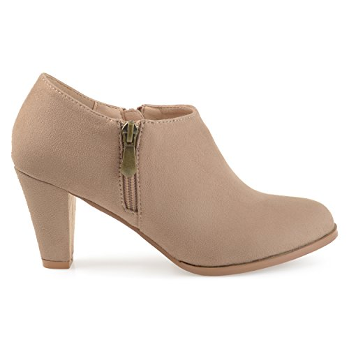 Brinley-Co-Womens-Sadra-Faux-Suede-Low-Cut-Comfort-Sole-Ankle-Booties-Taupe-12-Regular-US-0