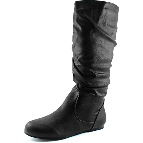 Dailyshoes-Womens-Mid-Calf-Zipper-Slouch-Suede-Comfortable-Boots-0