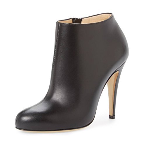 FSJ-Women-Fashion-Almond-Toe-Stiletto-Heels-Ankle-Booties-Comfy-Shoes-with-Side-Zipper-Size-4-15-US-0