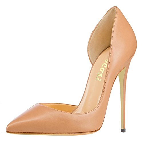VOCOSI-High-Heels-Women-Womens-Classic-Closed-Pointed-Toe-Bridal-Wedding-Party-Pumps-M-Apricot-7-US-0