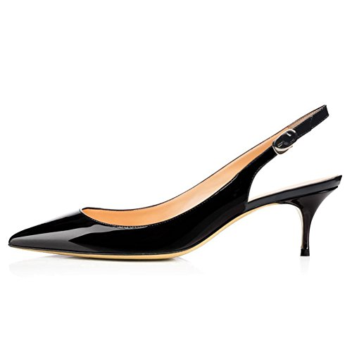 VOCOSI-Slingbacks-Pumps-for-WomenLow-Kitten-Heels-Comfortable-Pointy-Toe-Pumps-Shoes-Black-85-US-0