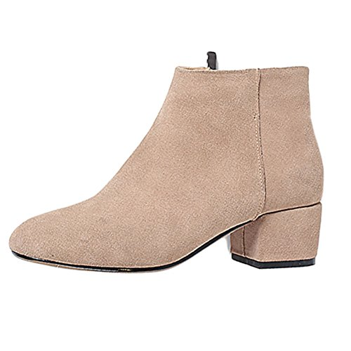 VOCOSI-Womens-17-1-Suede-Solid-Colors-Chunky-Heel-Casual-Dress-Square-Toe-Ankle-Booties-Khaki-39-CN-0