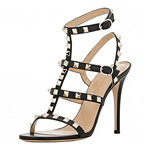 VOCOSI-Womens-Ankle-Strap-High-Heels-Studded-Strappy-Stilettos-Open-Toe-Dress-Sandals-M-Black-75-US-0
