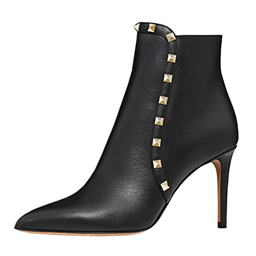 VOCOSI-Womens-Black-Rivets-Ankle-Booties-Stiletto-Pointed-Toe-Stud-Dress-Boots-Black-8-US-0