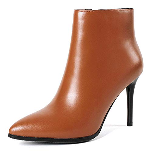 VOCOSI-Womens-Brown-Leather-Ankle-Boots-Thin-Heels-Pointy-Toe-Zipper-Daily-Wear-Booties-Brown-7-US-0