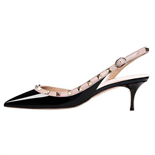 VOCOSI-Womens-Classic-Pointed-Toe-Pumps-Slingback-Kitten-Heels-with-Rivets-Pumps-Dress-Black-6-US-0