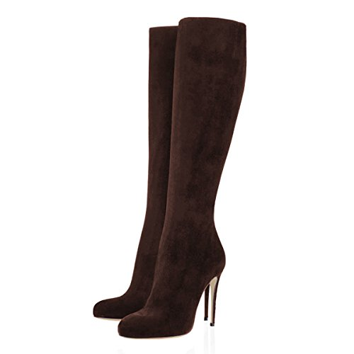 VOCOSI-Womens-Dark-Brown-Knee-High-Combat-Boots-Pointed-Toe-Stiletto-Boots-for-Autumn-and-Winter-Dark-Brown-85-US-0