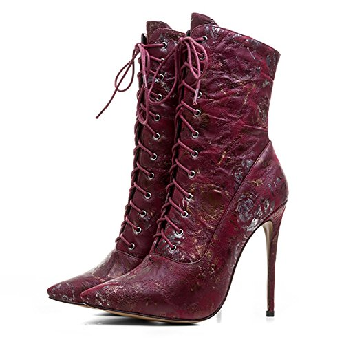 VOCOSI-Womens-High-Heels-Booties-Lace-up-Flower-Print-Ladies-Dress-Pointy-Toe-Ankle-Boots-Rose-36-CN-0