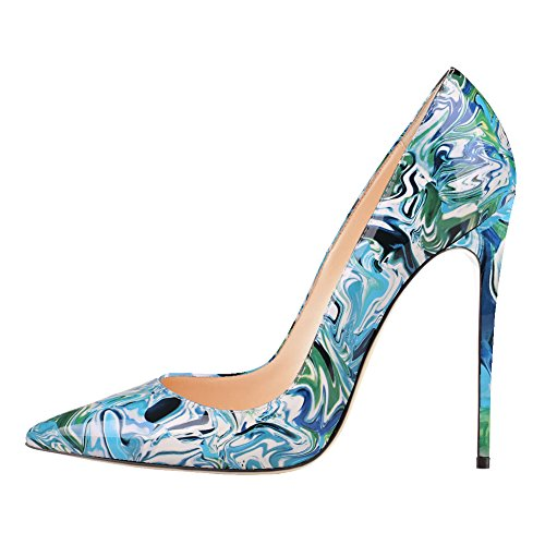 VOCOSI-Womens-High-Heels-Multicolored-Printing-Pointed-Toe-Stilettos-Dress-Pumps-Designer-Shoes-Blue-65-US-0