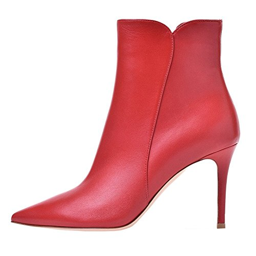 VOCOSI-Womens-Manmade-Leather-Red-Ankle-Booties-Stiletto-Pointed-Toe-Autumn-Dress-Boots-M-Red-85-US-0