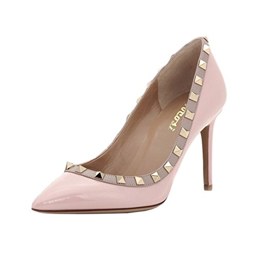 VOCOSI-Womens-Sexy-Pointy-Toe-Studs-Stilettos-High-Heels-Rivets-Shoes-Fashion-Pumps-Patent-Pink-7-US-0