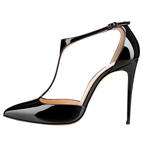 VOCOSI-Womens-T-Strap-High-Heel-Pumps-Ankle-Strap-Pointy-Dress-Pumps-Black-10-US-0