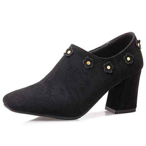 Alnice-Women-Low-Heels-Block-Heel-Faux-Suede-Square-Toe-Heeled-Shoes-Zipper-Flowers-Plus-Size-0
