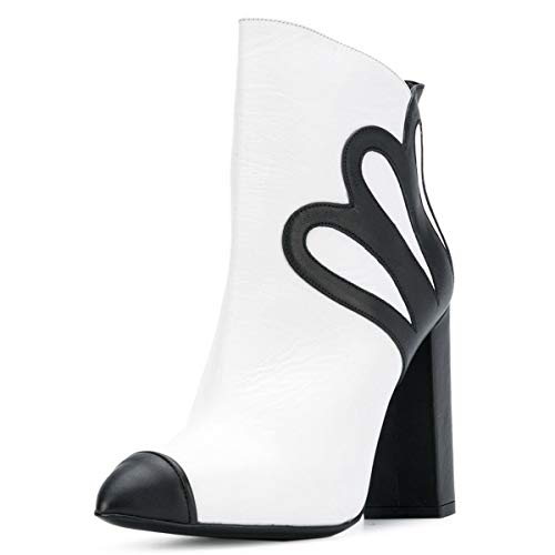 FSJ-Women-Fashion-Pointed-Toe-Ankle-Boots-Chunky-Block-Heels-Side-Zipper-Dress-Party-Shoes-Size-4-15-US-0