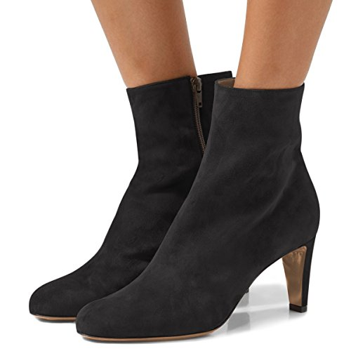 FSJ-Women-Fashion-Round-Toe-Ankle-Boots-Low-Heel-Faux-Suede-Comfortable-Walking-Booties-Size-4-15-US-0