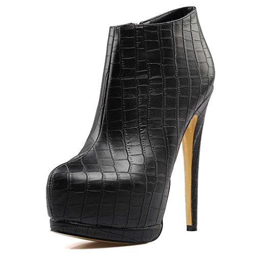 Female-Black-Banquet-Waterproof-Platform-High-Heel-Boots-Large-Size-Round-Head-Ankle-Boots-8007FD-0