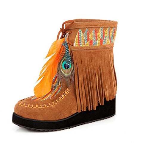 Marvin-Cook-Retro-Fringe-Boots-Flock-Chunky-Feather-Women-Ankle-Short-Boots-Tassels-Big-Size-Shoes-Size-34-43-0