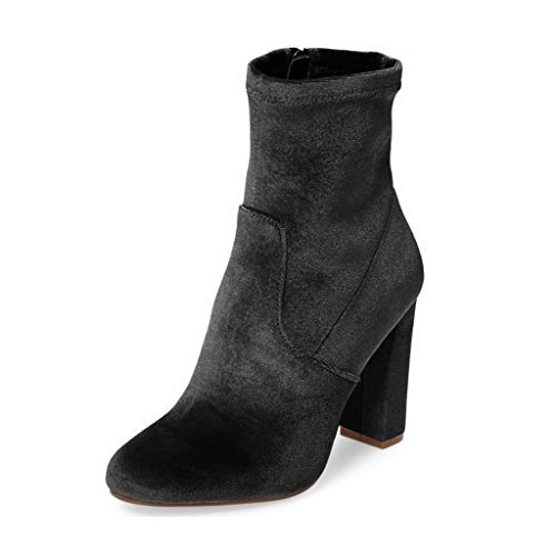 Women-Elegant-Chunky-High-Heels-Ankle-Boots-Velvet-Round-Toe-Comfort-Dress-Shoes-Side-Zipper-Size-4-15-US-0