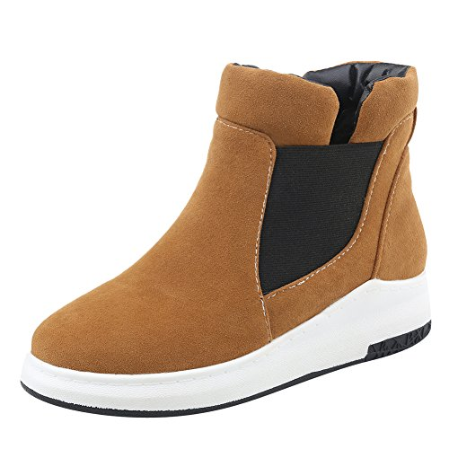 Latasa-Womens-Faux-Nubuck-Pull-on-Flat-Ankle-Boots-0