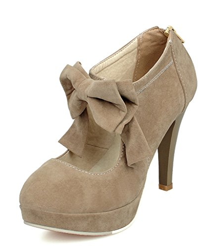 Maybest-Womens-Vintage-Party-Bridal-Wedding-Shoes-Platform-High-Heels-Pump-Ankle-Boots-with-Bow-Camel-13-B-M-US-0
