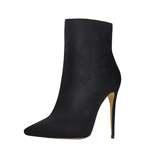 Onlymaker-Ankle-Boots-For-Women-Side-Zipper-Dress-High-Heels-Shoes-Booties-Black-13-M-US-0