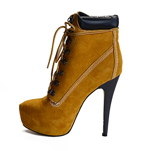 onlymaker-Womens-Rivet-Studded-Platform-High-Heel-Pointed-Toe-Lace-Up-Ankle-Boots-Brown-13-M-US-0