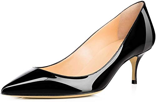 Ayercony-Pumps-for-Woman-Kitten-Heel-Pumps-Pointed-Toe-Shoes-Slip-On-High-Heel-for-Dress-Office-0