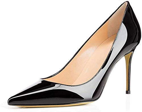 Ayercony-Pumps-for-Woman-Kitten-Heel-Pumps-Slip-on-high-Heel-Pointed-Toe-Shoes-for-Dress-Office-0
