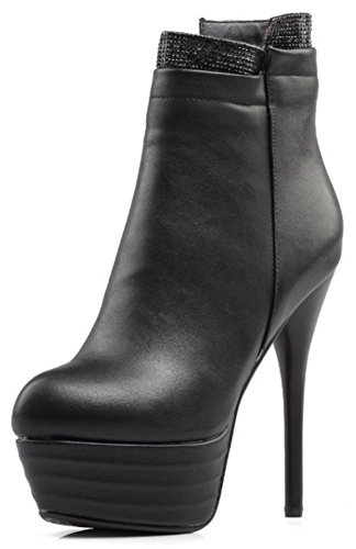 IDIFU-Womens-Dressy-Zip-Up-Pointed-Toe-High-Stiletto-Heel-Short-Ankle-High-Boots-with-Platform-0