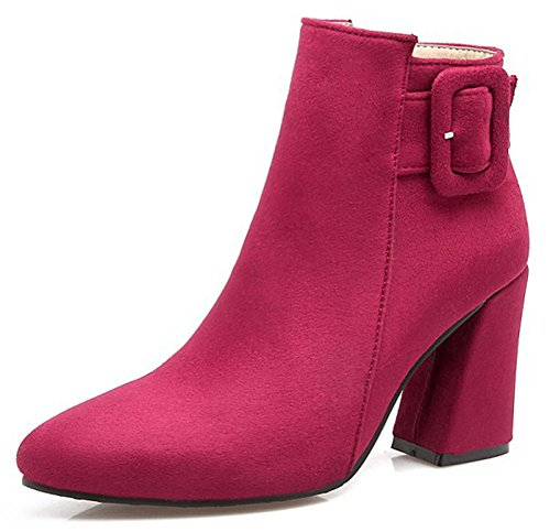 IDIFU-Womens-Sexy-Faux-Suede-Pointed-Toe-High-Block-Heel-Buckle-Side-Zipper-Ankle-Boots-0