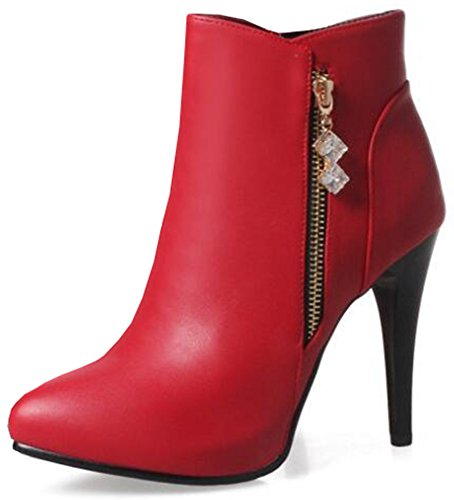 IDIFU-Womens-Sexy-Pointed-Toe-High-Stiletto-Heels-Side-Zipper-Ankle-Boots-with-Pendant-0