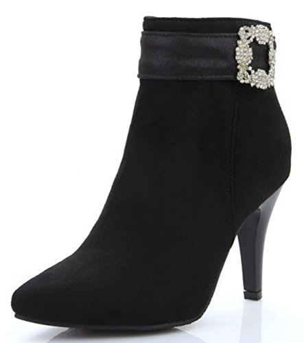 IDIFU-Womens-Sexy-Rhinestones-Pointed-Toe-High-Heels-Stiletto-Short-Ankle-Boots-with-Zipper-0