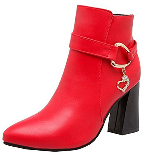 IDIFU-Womens-Trendy-Pendant-Pointed-Toe-Block-High-Heel-Short-Ankle-Boots-with-Zipper-0