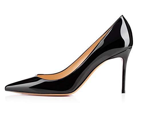 YODEKS-Womens-Pointed-Toe-Classic-Pumps-85mm-Stiletto-Heels-Patent-Shoes-Party-Dress-Pumps-0