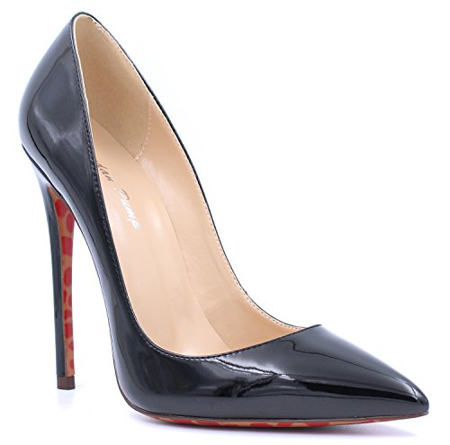 yBeauty-Womens-High-Heels-Pointed-Toe-Pumps-Stiletto-Slip-On-Work-Shoes-Large-Size-Prom-Shoes-12cm-0