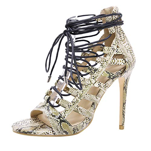 DENER-Women-Ladies-Dress-Sandals-Stiletto-PumpsBandage-Snakeskin-Printed-High-Heels-Wide-Width-Dressy-Shoes-Blue-0