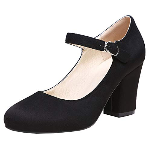 Vitalo-Womens-Block-Heel-Mary-Janes-Round-Toe-Ankle-Strap-Pumps-Court-Shoes-0