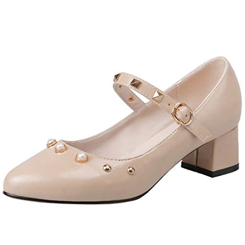 Vitalo-Womens-Block-Heels-Mary-Jane-Pointed-Toe-Pumps-with-Studs-Ankle-Strap-Court-Shoes-0