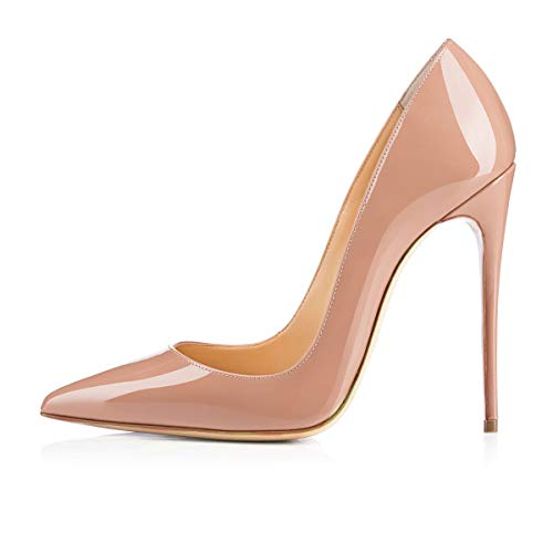 onlymaker-Womens-Classic-Pointed-Toe-Genuine-Leather-High-Heels-Slip-On-Stiletto-Pumps-Dress-Basic-Shoes-Nude-13-M-US-0