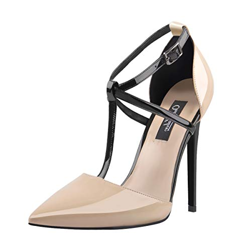 Onlymaker-Pumps-for-Women-High-Heels-T-Strap-Stiletto-Pointed-Toe-Sandal-US5-15-0