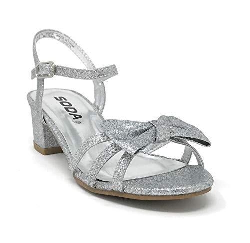SODA-JDGale-Childrens-Girls-Open-Toe-Slingback-Block-High-Heel-Sandals-13-M-US-Little-Kid-Silver-G-0